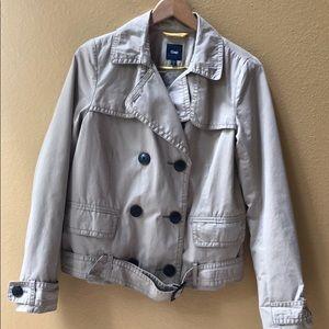 Gap belted  quilted utility coat jacket medium